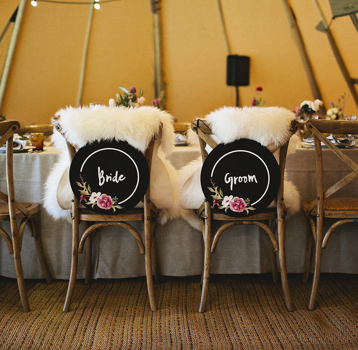 wedding, ceremony, tipi, teepee, marquee hire, seating, bride, groom, reception