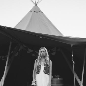 vintage bride, teepee, tipi, wedding, marquee hire
