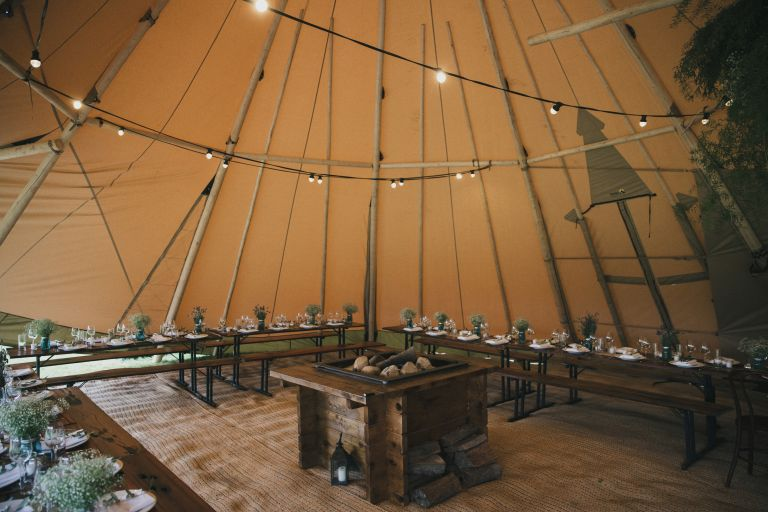 tipi, wedding, marquee hire, party, hinterland, outdoor wedding