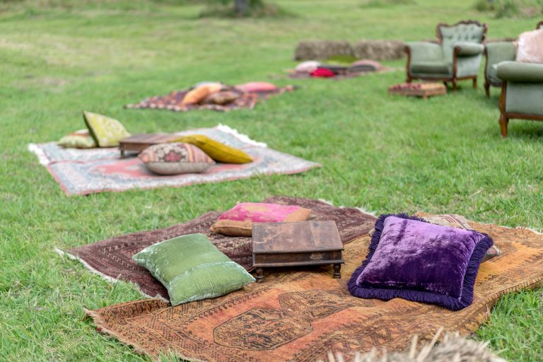 Moroccan, picnic blanket, wedding, rustic, marquee hire, tipi event