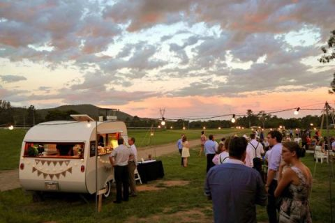 caravan, vintage caravan, caravan bar, wedding catering, event catering, gold coast tipis, gold coast, marquee hire