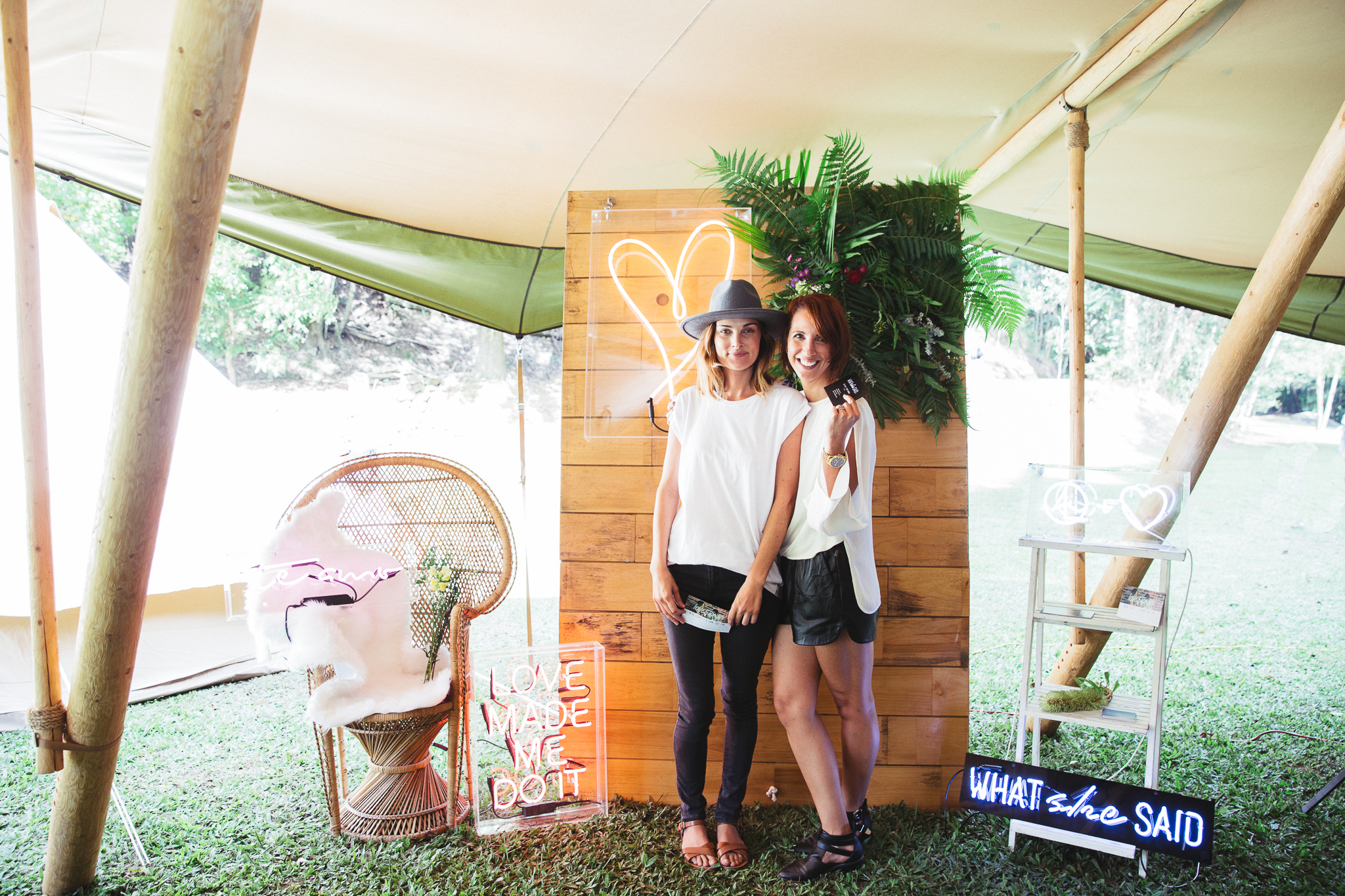 Gold coast tipis, wedding, marquee hire, gold coast, what she said, neon signs, wedfest