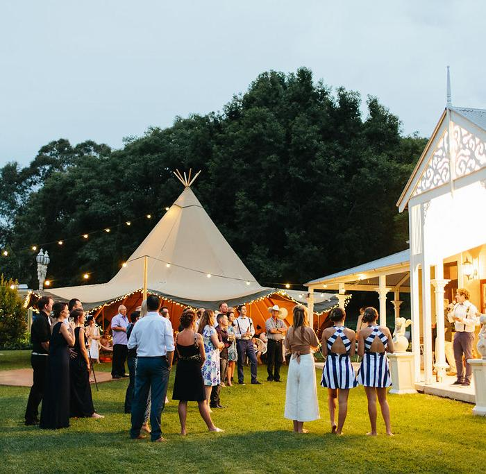 gold coast tipi, wedfest, marquee hire