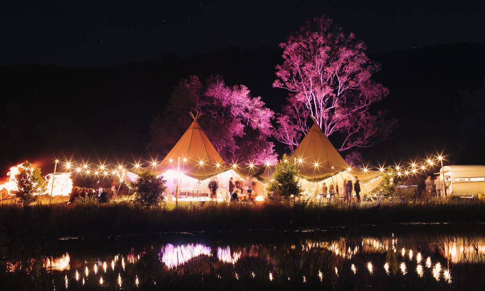 tipi wedding, gold coast, boho wedding, tipis, the farm numinbah