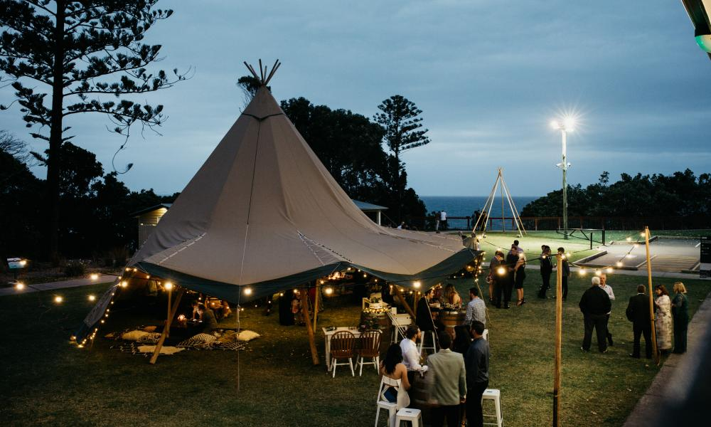 gold coast tipis, tipi wedding, kirra hill, large marquee hire, event hire