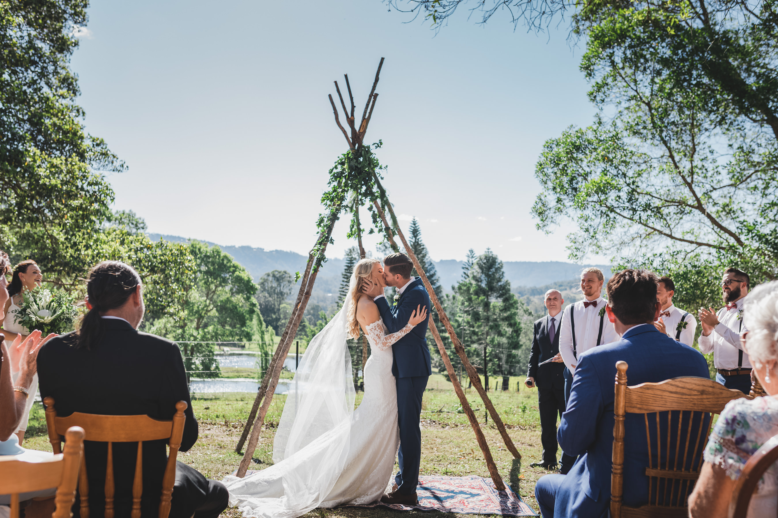 tipi wedding, large marquee hire, gold coast weddings, tipi, event hire, wedding, marquee hire, naked tipi