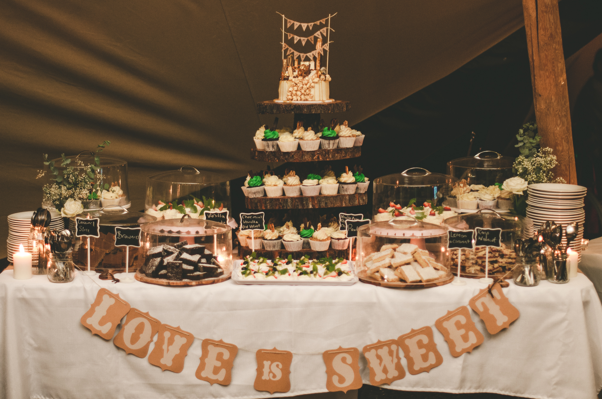tipi wedding, gold coast, marquee hire, tipi hire, event hire, gold coast weddings, dessert, catering