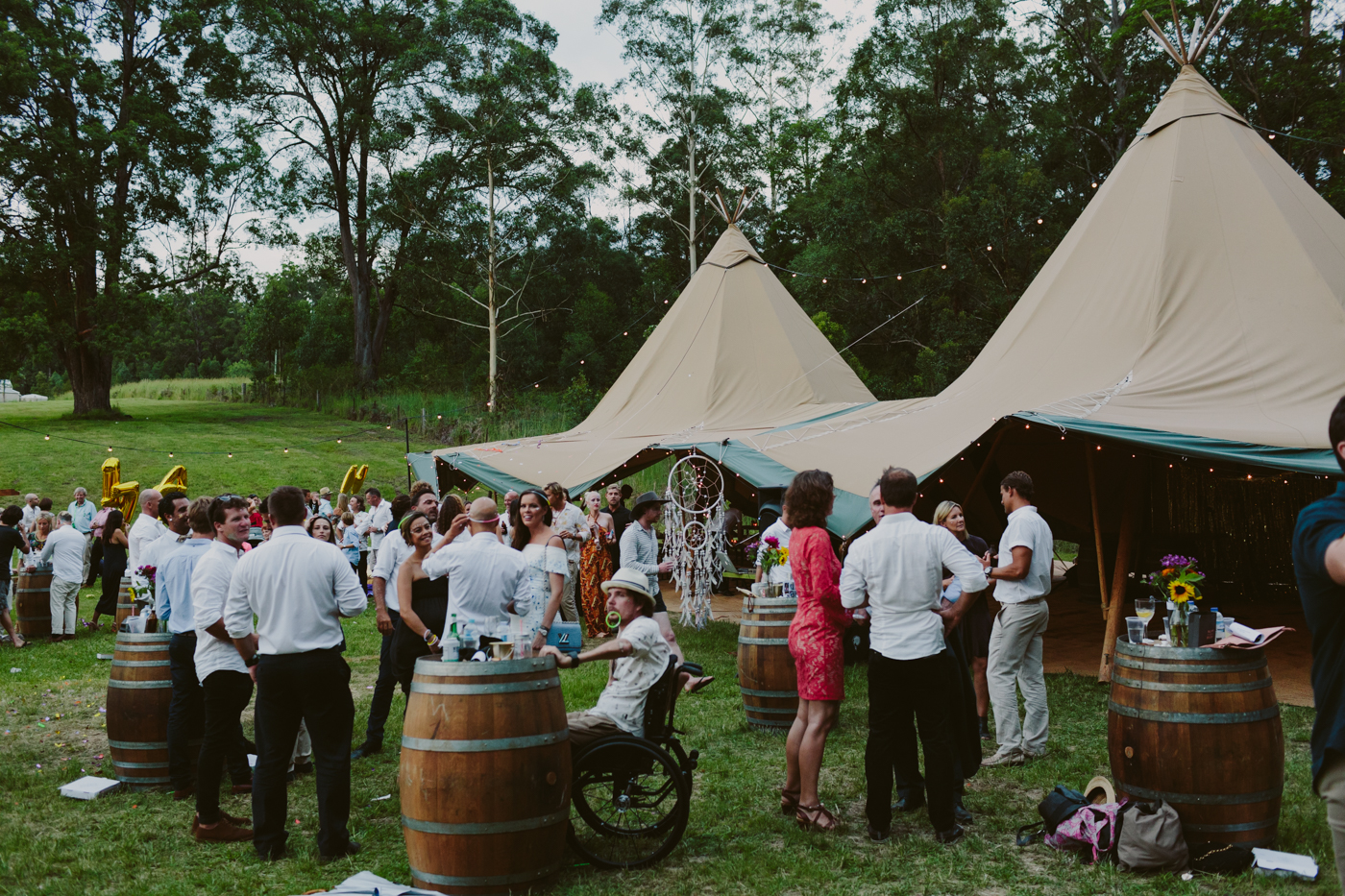 Designer Wedding Dress Gold Coast: Real Tipi Wedding: Jay And Kate's NYE Wedfest At The Farm