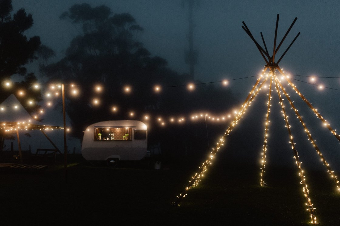 Tipi Arbour with Fairy Lights