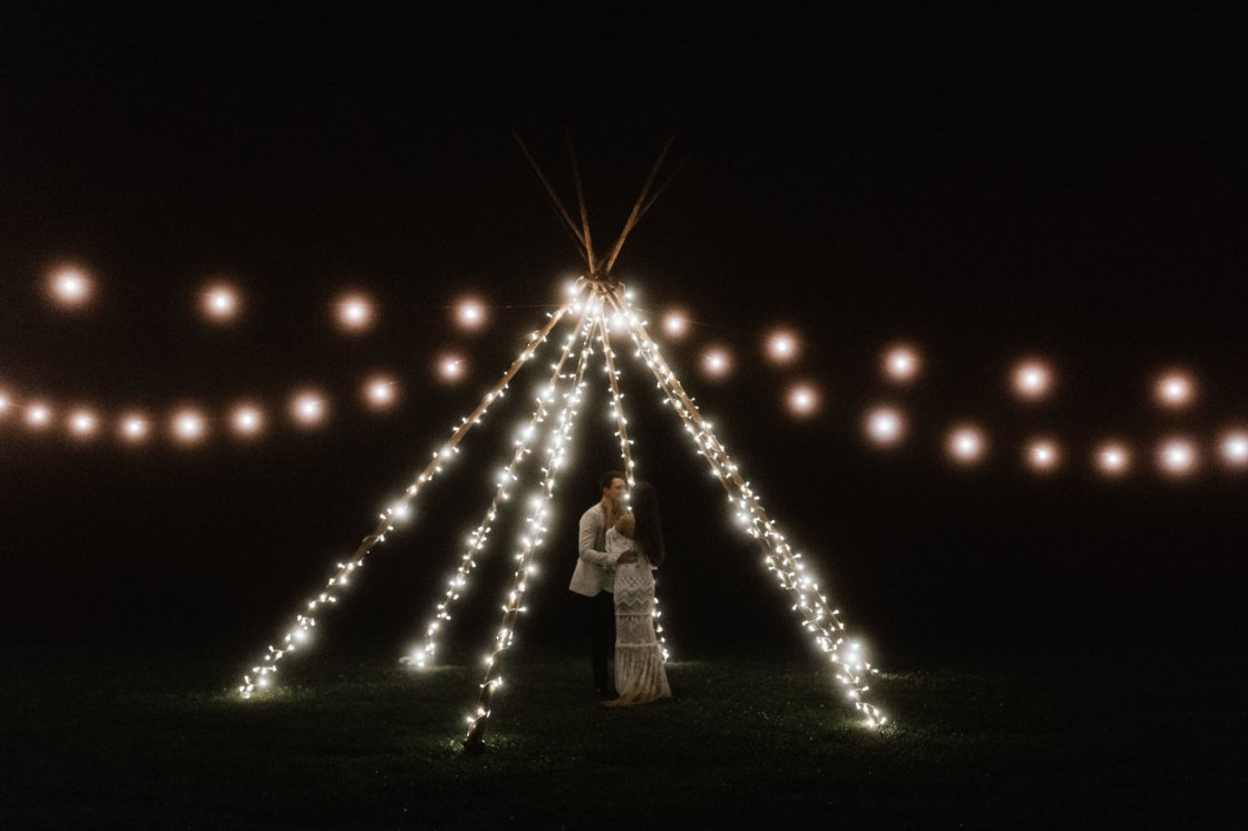 Tipi Arbour with Fairy Lights First Dance