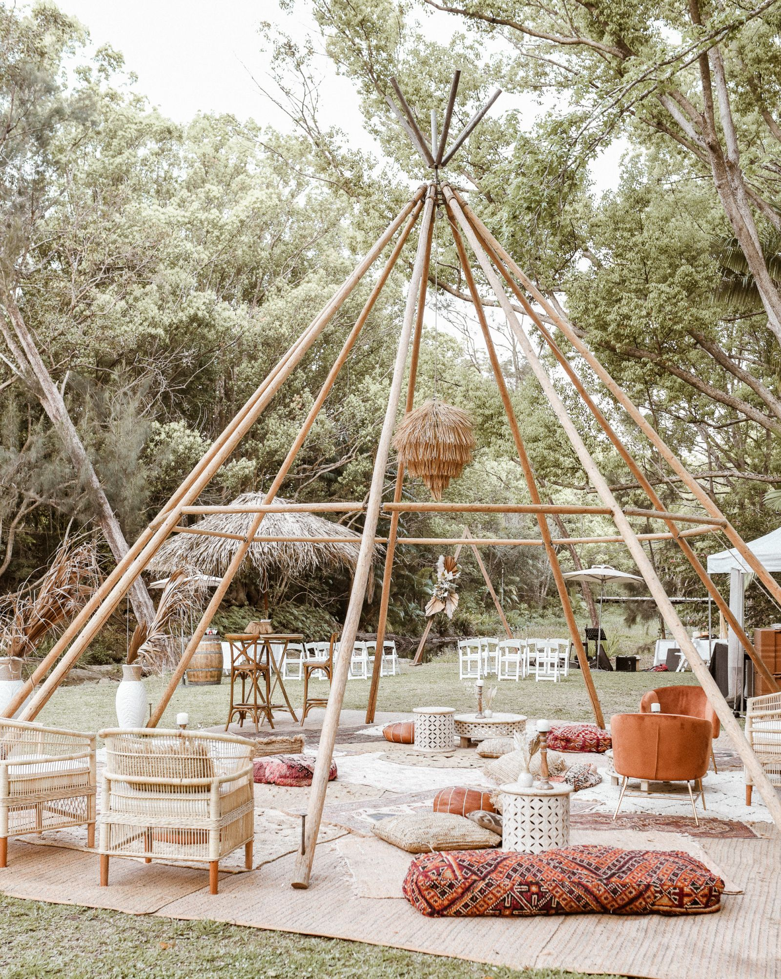 sol gardens naked tipi hire