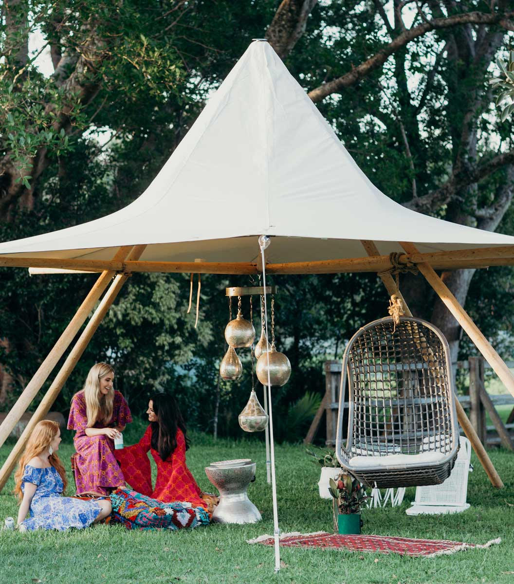 canopy tipi party hire