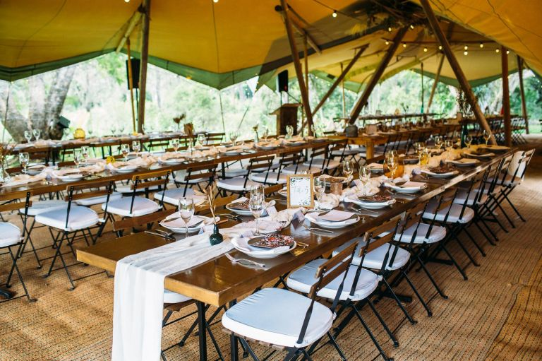 Tipi Wedding Historic Rivermill