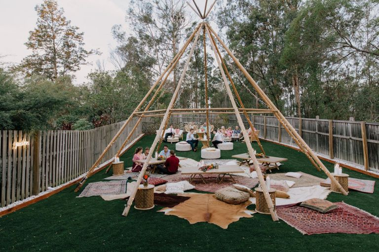 Backyard Tipi Wedding