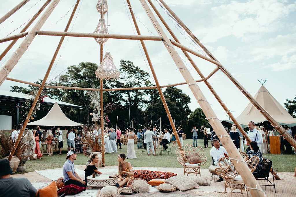 tipi hire ardeena wedding lovefest