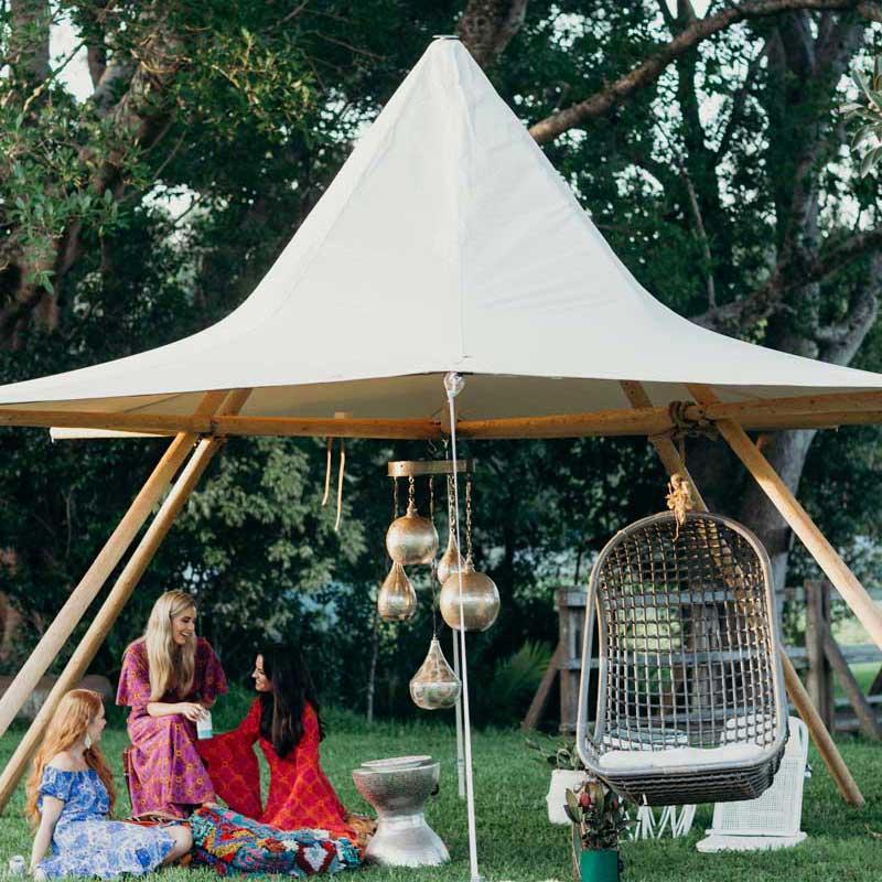 canopy tipi hire