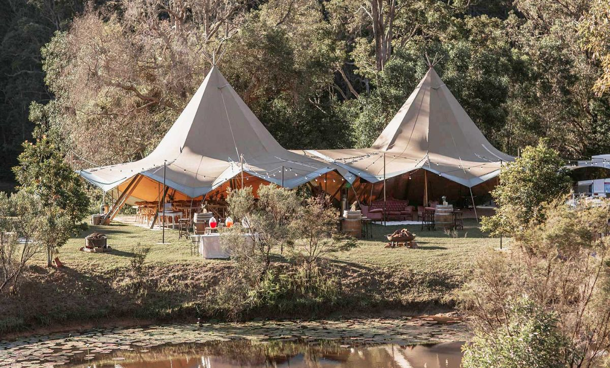 double tipi gold coast farm house