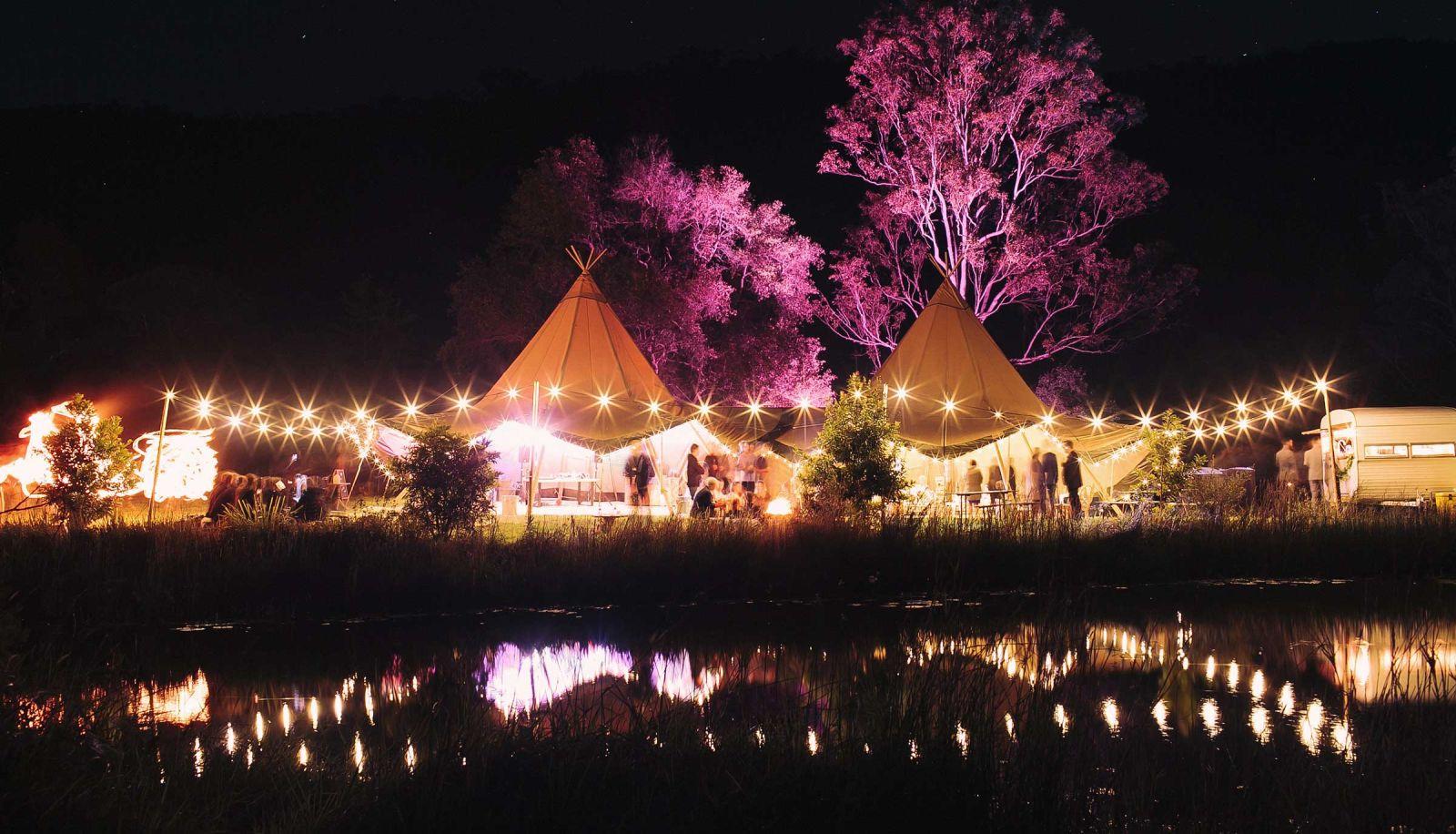 gold coast farm house tipi wedding