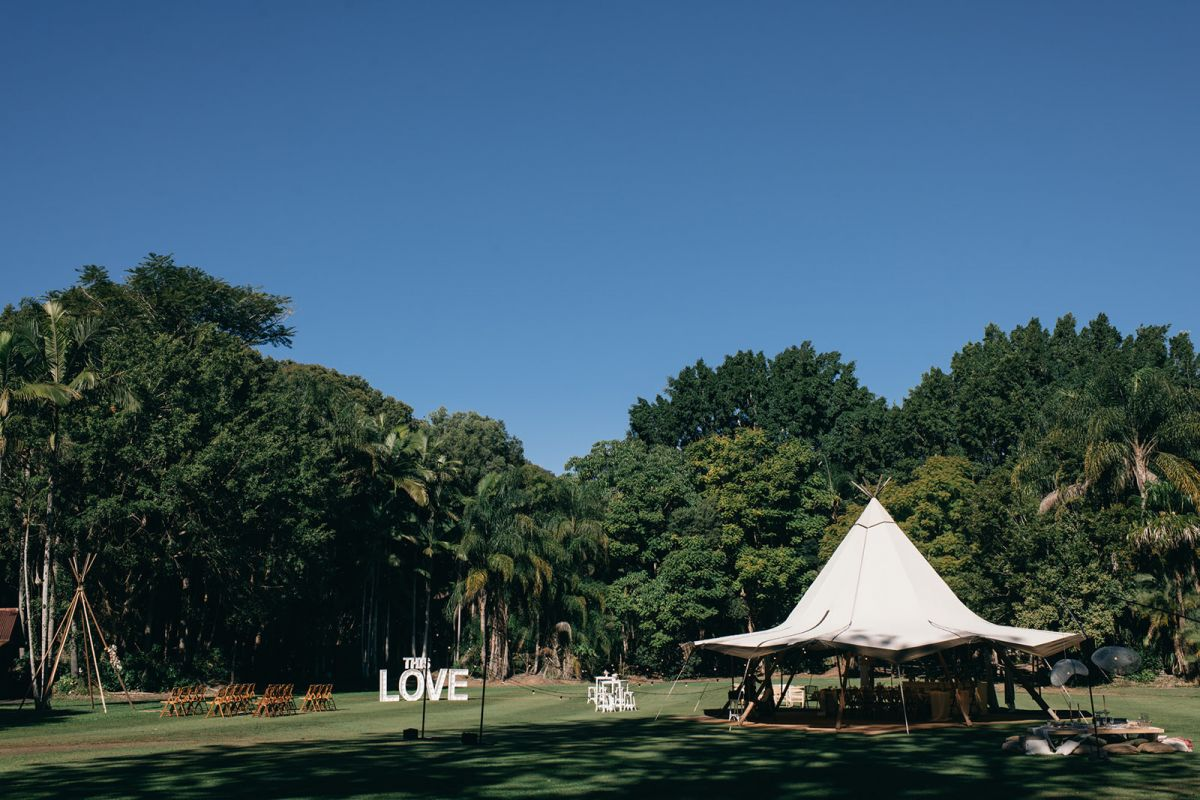 The Acre Boomerang Farm Tipi Wedding